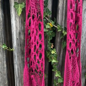 Pink Hand Knit Scarf